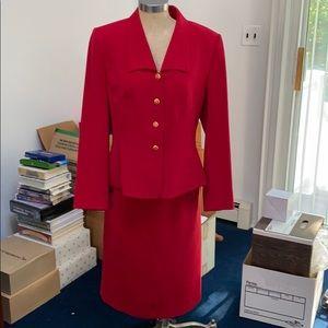 Red Kasper suit